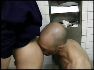 Bald Gay Bear Drills Some Nasty Twink's Butt Doggy Style