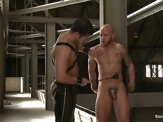 Bald Gay Gets His Ass Beaten And Fucked Hard In A Stunning Bdsm Clip