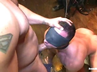 Fabio Stallone Gets His Mouth And Butt Drilled Hard In Bdsm Scene
